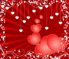Free Valentines Day Paper Heart Card  Illustration Royalty Free Stock Photos - 35662008