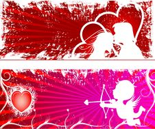 Free Valentines Day Paper Heart Card  Illustration Stock Photography - 35662042