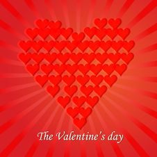Free Valentines Day Paper Heart Card  Illustration Stock Photography - 35662052