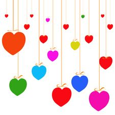 Free Valentines Day Paper Heart Card  Illustration Stock Photo - 35662060