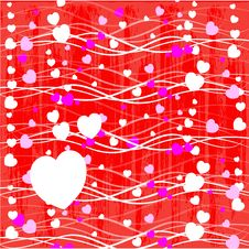 Free Valentines Day Paper Heart Card  Illustration Stock Photo - 35662080