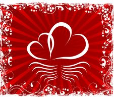 Free Valentines Day Paper Heart Card  Illustration Royalty Free Stock Images - 35662099