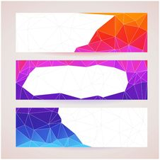 Free Set Of Banners For Your Website, Triangle Royalty Free Stock Photography - 35663757