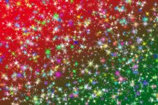 Free Christmas Sparkling Stars Stock Photography - 35664692