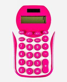Free Pink Calculator Stock Image - 35672481