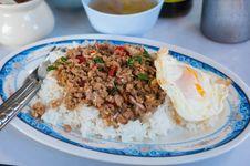 Rice With Stir Fried Royalty Free Stock Photos
