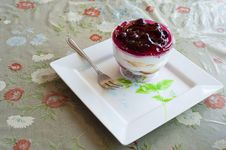 Fancy Blueberry Cake Royalty Free Stock Photography
