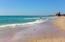 Free Sandy Beach On The Mediterranean Sea Stock Photography - 35676882