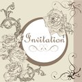 Free Vintage Invitation Card With Roses Royalty Free Stock Photos - 35682258