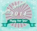 Free Simple Vintage Retro Christmas Card 2014 Royalty Free Stock Image - 35684346