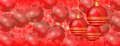 Free Christmas Wallpaper Red Baubles On Panaorama Banner Stock Image - 35686921
