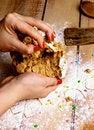 Free Preparation Gingerbread Men Stock Photo - 35687710