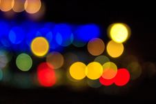 Free Abstract Background Of Blurred Lights With Bokeh Effect Stock Photography - 35680322