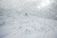 Free Snow Covered Hillside Stock Images - 35683004