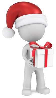 Free Christmas Delivery. Stock Images - 35684504