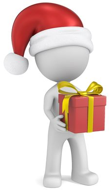 Free Christmas Delivery. Royalty Free Stock Photo - 35684505