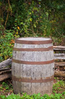Old Barrel Vertical Royalty Free Stock Image