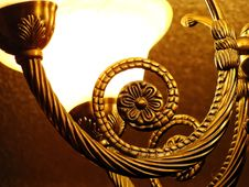 Free Bronze Design On A Hanging Light Stock Photos - 35686913