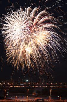 Beautiful Fireworks Royalty Free Stock Photos