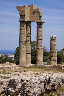 Free Rodos Ruins Royalty Free Stock Photos - 35690718