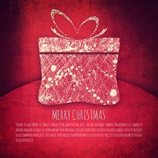 Free Vintage Christmas Package Stock Photo - 35691290