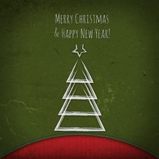 Free Vintage Christmas Tree Stock Image - 35691321