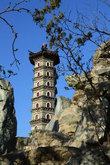 Free Chinese Pagoda Royalty Free Stock Photos - 35696258