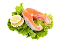 Free Fresh Salmon Stock Photo - 35696540