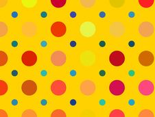 Free Multicolored Bright Polka Dots Pattern. Abstract Backgrounds Stock Photography - 35697962