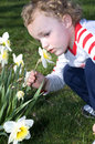 Free Smelling The Flowers Stock Images - 3570834
