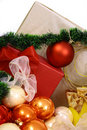 Free Christmas Balls On A White Bac Stock Images - 3571084