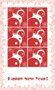 Free Red Snowmen With Snowflakes Stock Photo - 3573350