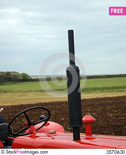Farm Tractor Exhaust Pipes : Tractor exhaust free stock photos images