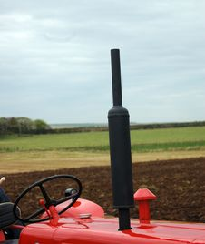 Tractor Exhaust Stock Photo