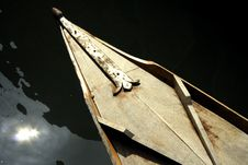 Gondola Detail, Venice Stock Photo