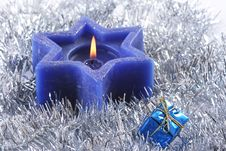 Free Six Sided Christmas Candle Royalty Free Stock Photos - 3570678