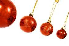 Free Christmas Balls On A White Bac Royalty Free Stock Image - 3570786