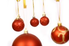 Free Christmas Balls On A White Bac Royalty Free Stock Photo - 3570865