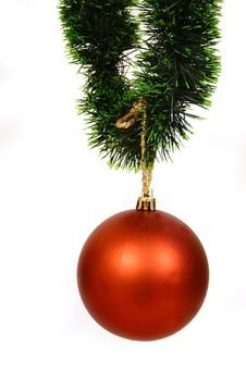 Free Christmas Balls On A White Bac Royalty Free Stock Images - 3571049