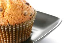 Tasty Muffin In Closeup Stock Photos