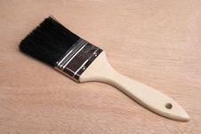Free Paint Brush On Wood Background Royalty Free Stock Images - 3571549