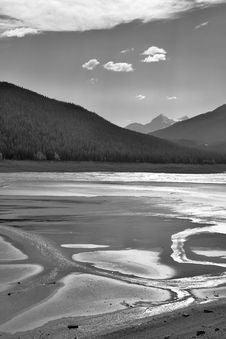 Solar Shine In Lake. Royalty Free Stock Image