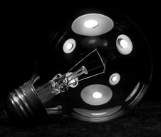Close Up Of A Clear Light Bulb Royalty Free Stock Photos