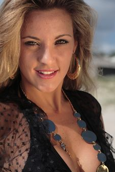 Model At The Beach Stock Images
