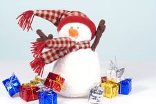 Free Windy Day Snowman Royalty Free Stock Photo - 3572815