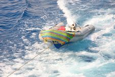 Free Rubber Boat Being Towed Royalty Free Stock Photos - 3573108