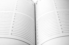 Free Agenda Pages Royalty Free Stock Photos - 3573558