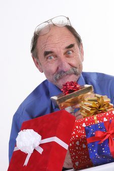 Free Man With Gifts Stock Photo - 3573640