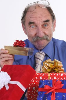 Free Man With Gifts Royalty Free Stock Photography - 3573687