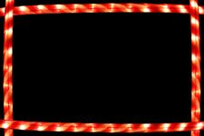 Free Candy Cane Lighted Frame Royalty Free Stock Photo - 3574675